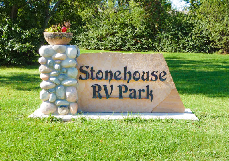 Stonehouse RV Park Front Sign